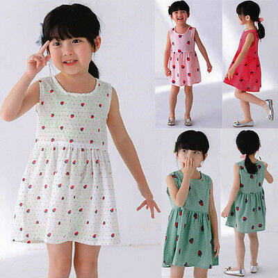 Summer Kids Infant Baby Girls Party Wedding Princess Tutu Dress Holiday Sundress