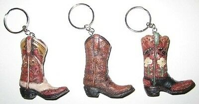 Western Mini Boots Set of 3 Christmas Ornament/Key Chains #3