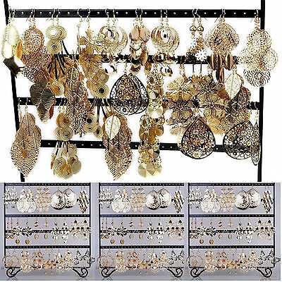 CHIC Wholesale Jewelry 24pcs Mixed  Lots Gold Plated Fashion Dangling Earrings