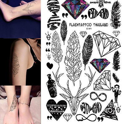 Body Arm Tattoos Sticker Temporary Tattoo Paper for Men Women Fake Tatoo Sticker