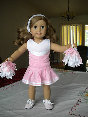 """Pink And White Cheerleader Set W/ Shoes Fits American Girl  18""""  Dolls"""