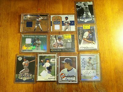 Los Angeles Dodgers baseball card lot Kevin Brown Kirk Gibson game worn auto