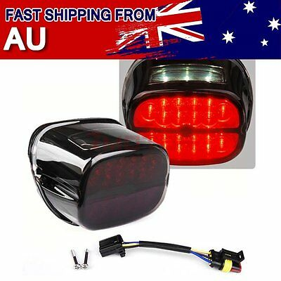 AU Smoked Rear Tail Brake Turn Signals LED Light For Harley  Sportster 883 1200