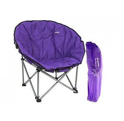 Summit Adult Portable Festival Oval Orca Moon Bucket Camping Chair - Purple