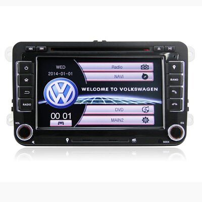 7 autoradio gps navigation sat nav dvd player f r vw. Black Bedroom Furniture Sets. Home Design Ideas