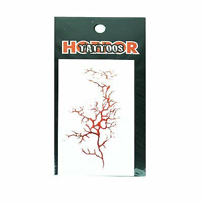 Tree Vein Temporary Tattoo Halloween Scary Dress Up Costume Party Fun
