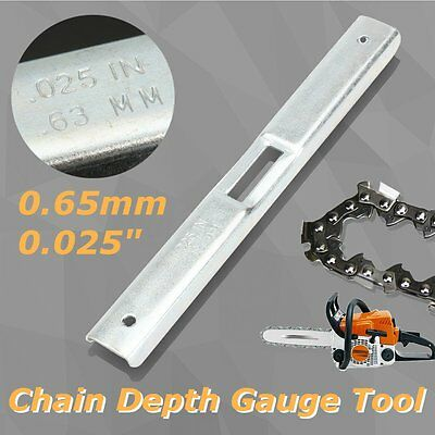 Chainsaw Steel Depth Gauge File Guide Tool 0.65mm for Chain Saw Raker Removal