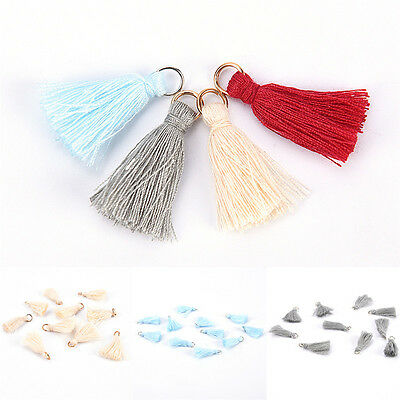 10pcs Cotton Silk Handmade Tassel for Jewelry Embellishment Mini Tassels DSUK