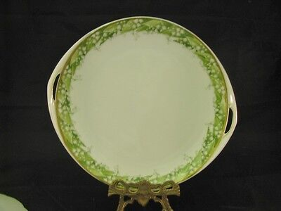 Gorgeous Serving Handled PLATE RC LILLY OF THE VALLEY BAVARIA UNDINE B3