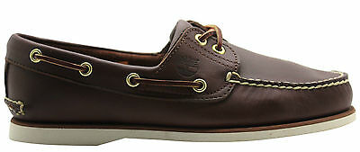 1e70913bd666 Timberland Classic 2 Eye Mens Brown Casual Summer Low Top Boat Shoes 74035  U113