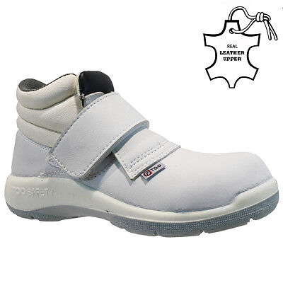 New Ladies White Steel Toe Cap Safety Work Hygiene Food Medical Shoes Boots Size