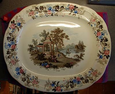 Very Large Platter 'Imperial Colour'd Landscape' by Joseph Clementson 1839-64