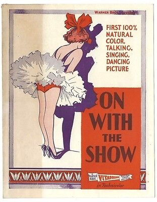 On with the Show 1929 herald  Arthur Lake Betty Compson Joe E. Brown zaz