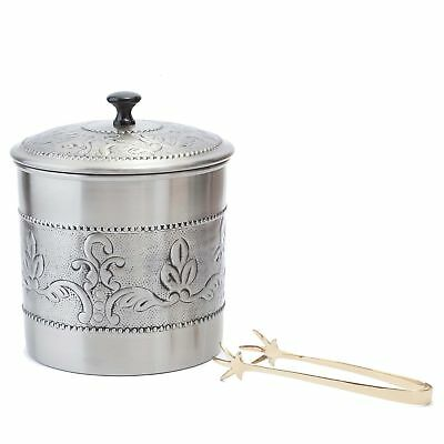Old Dutch International 3 Qt. Victoria Ice Bucket with Liner and Tongs