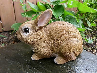 Rabbit Bunny Figurine 9.5in W. Country PetPals Resin Statue Ornament New Bunnies