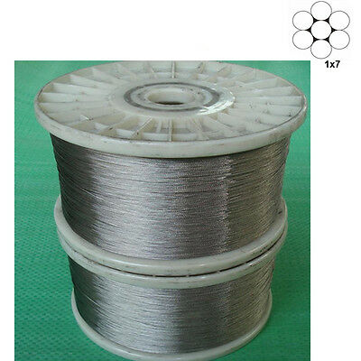 1X7 Stainless Steel Cable Wire Rope 0.3mm to 0.8mm