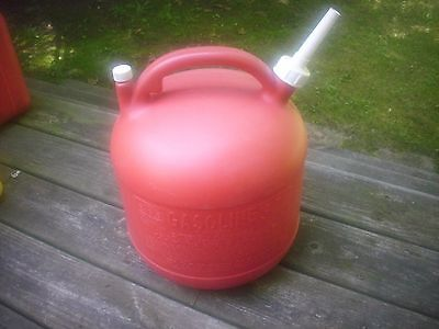 vintage EAGLE 5 GALLON VENTED gas can, model PG-5,  clean w/ screened spout