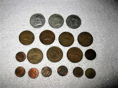 Mixed Lot of Old Pesos (3) and Centavos (15) Very Nice Coin Lot 18 Total Coins