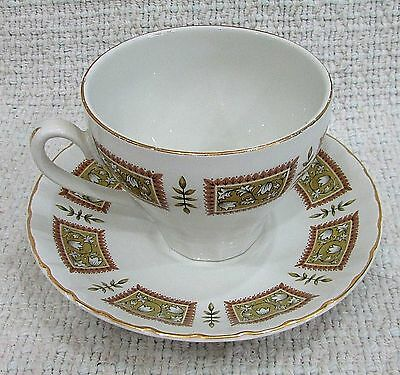 Ulverston Ridgway White Mist Staffordshire England Old Cup and Saucer FREE SH