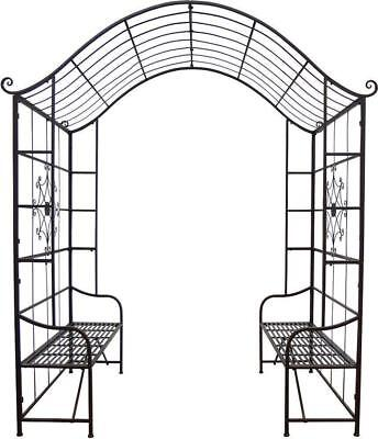 G2406: Romantic Double Seat Rosalie, rose archway, Pergola Bench Roses Canopy