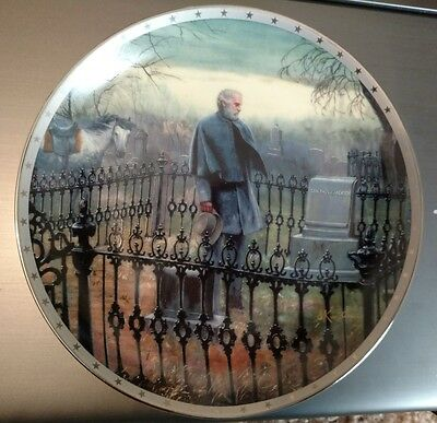 Danbury Mint Heroes of the Confederacy THE FINAL VISIT Collector Plate