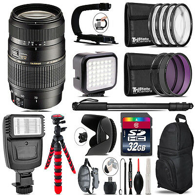 Tamron 70-300mm Lens for Canon - Video Kit +  Flash - 32GB Accessory Bundle