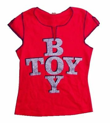 Madonna Glitter Boy Toy Red Girls Juniors Shirt Large New Official