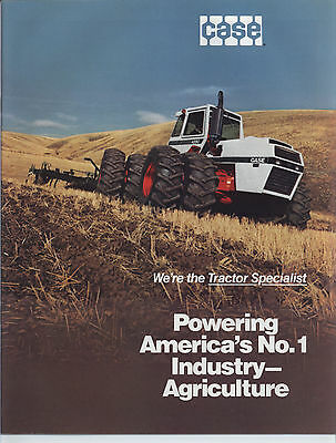 1981 JI CASE Buyers Guide Brochure 90 Series Tractors Plows Disks Skid Steer