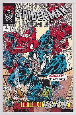 Spider-Man Special Edition #1 Marvel 1992 Trial of Venom Cover With Poster RARE
