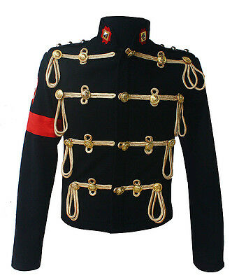 Hot Michael Jackson Royal Military Woolen Jackets Costumes Fast & Free Shipping