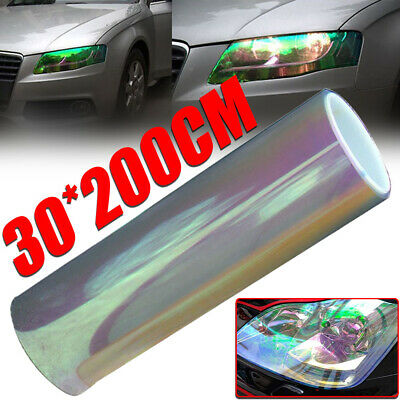 "12""x78"" Chameleon Clear Car Auto Headlight Tail/Fog Light Vinyl Tint Film Wrap"