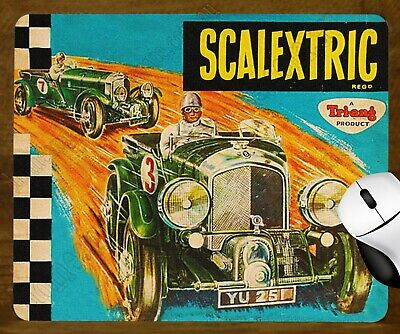 Unique Mouse Pad - Tri-Ang Scalextric Box Art