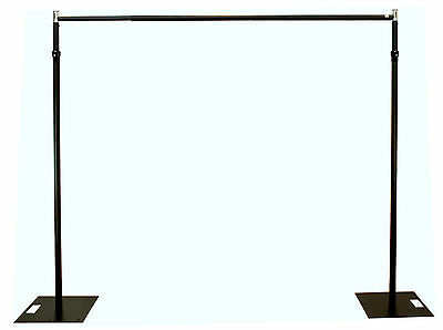 6.1m x 4.2m BLACK Pipe and Drape support system/Event backdrop - 2.4-6.1m max H