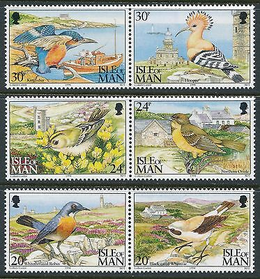1994 Gb Isle Of Man Bird Observatory Set Of 6 Fine Mint Mnh/muh