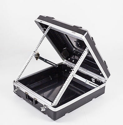 "19"" ABS 12RU mixer case / road case with adjustable frame"