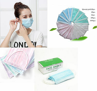 Disposable Respirator Surgical Face Medical Mask Dust Cleaning Ear Loop Flu Mask