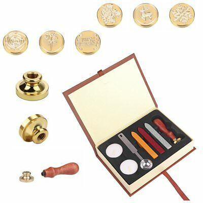 6 Patterns Classic Sealing Wax Seal Stamp Brass Copper Head Letter Decor