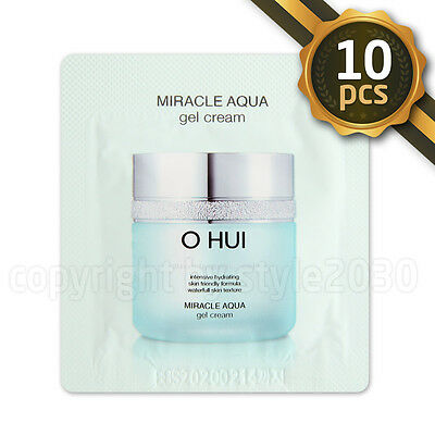 [O HUI] Miracle Aqua Gel Cream 1ml x 10pcs (10ml) Moisturizing OHUI