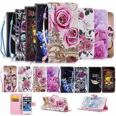 Wallet Magnetic Leather Flip Phone Case Cover Stand for Apple iPhone Samsung