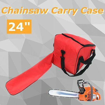 """Deluxe Chainsaw Carry Case Bag Bar Cover For Stihl Husqvarna Ect Up To 24"""" Bar"""
