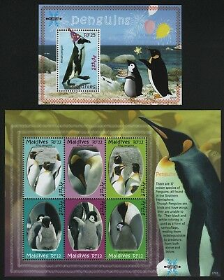 Malediven 2007 - Mi-Nr. 4613-4618 & Block 615 ** - MNH - Pinguine / Penguins