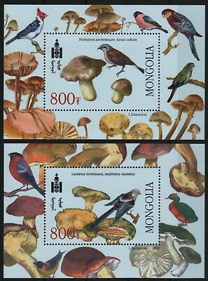 Mongolei 2003 - Mi-Nr. Block 335-336 ** - MNH - Vögel / Birds – Pilz / Mushrooms