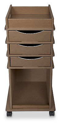 TrippNT Disposable Cart with 3 Drawers Brown