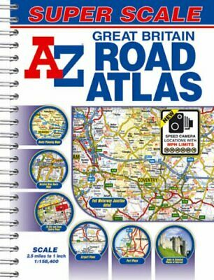 Great Britain Super Scale Road Atlas by Great Britain Paperback Book The Cheap