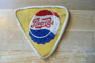 original old vtg advertising Pepsi-Cola bottle top antique collectible patch