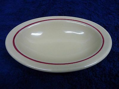 """Inca Ware Restaurant Oval Dish Red Band 5 1/2"""" x 4"""""""