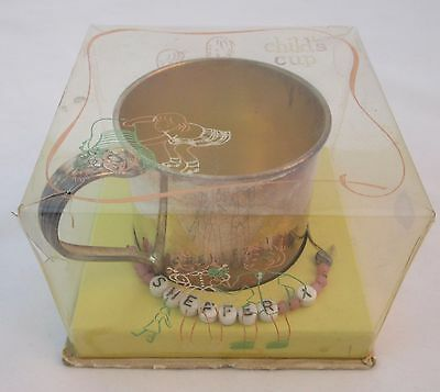 Vintage 1881 ROGERS Silverplate Childs Baby Cup Original Box