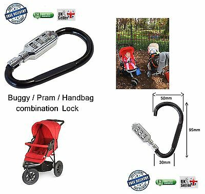 SMALL BUDDY PRAM STROLLER BUGGY HOOK LOCK PADLOCK my Travel handbag mummy clip