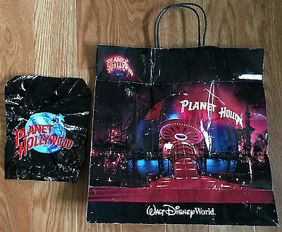Lot Of (2) Planet Hollywood Merchandise Promo Shopping Bags - Walt Disney World