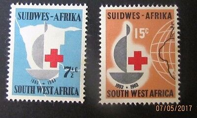 South West Africa Mint HInged Scott 295-296. 2012 CV $17.75